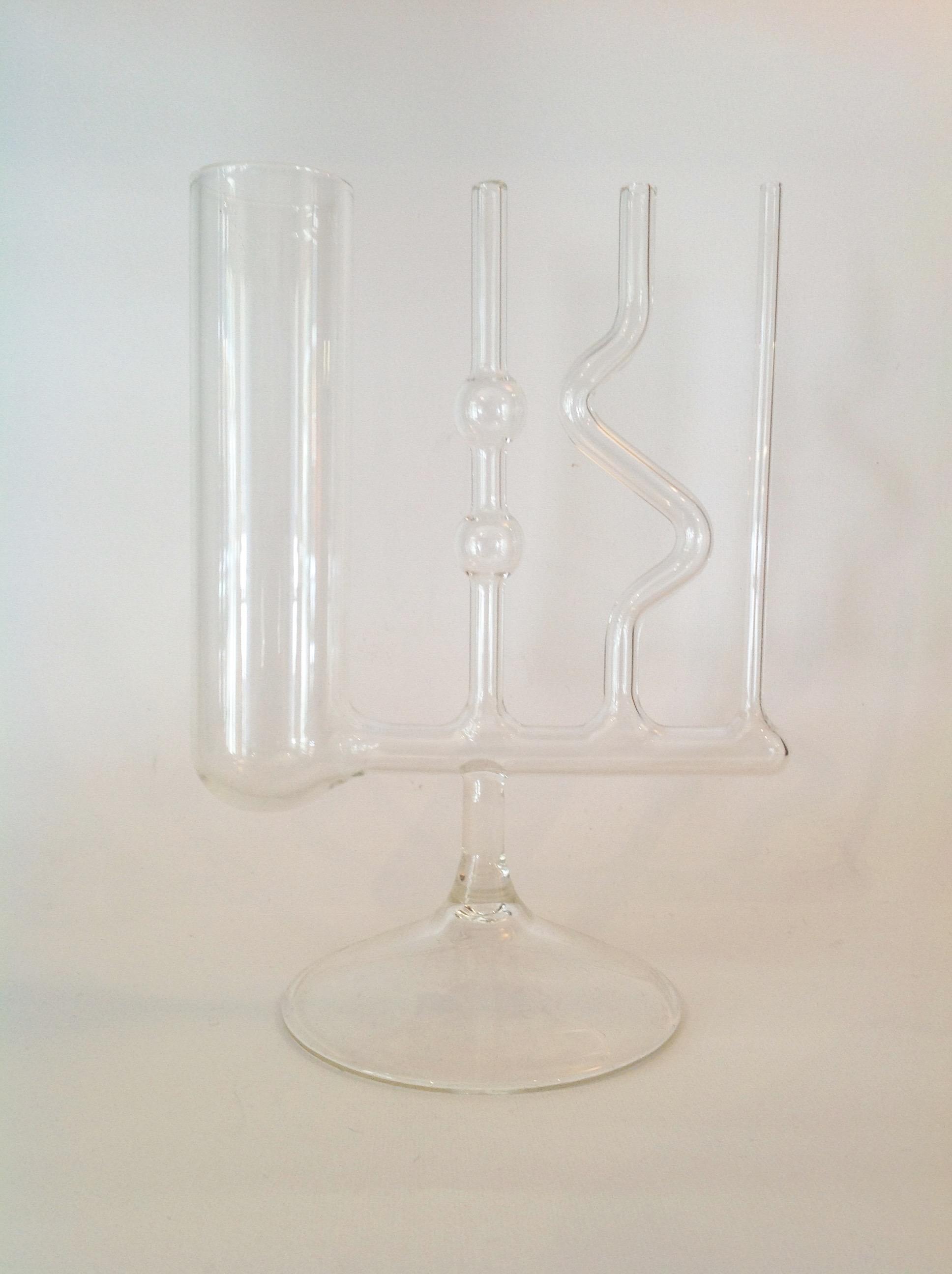 Vasi comunicanti in vetro H.20 cm L.15 cm