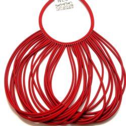 Collana design in neoprene colore rosso