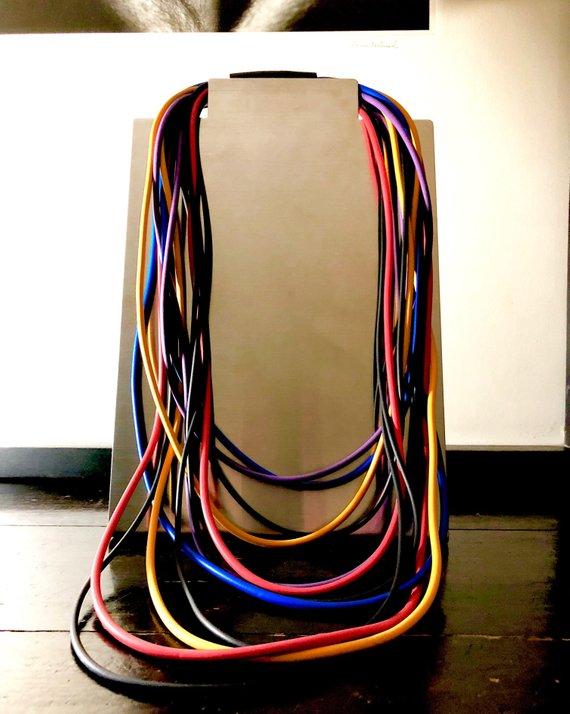 Collana in neoprene multicolor