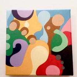 Cristiano Mancini acrilico su tela pattern #3