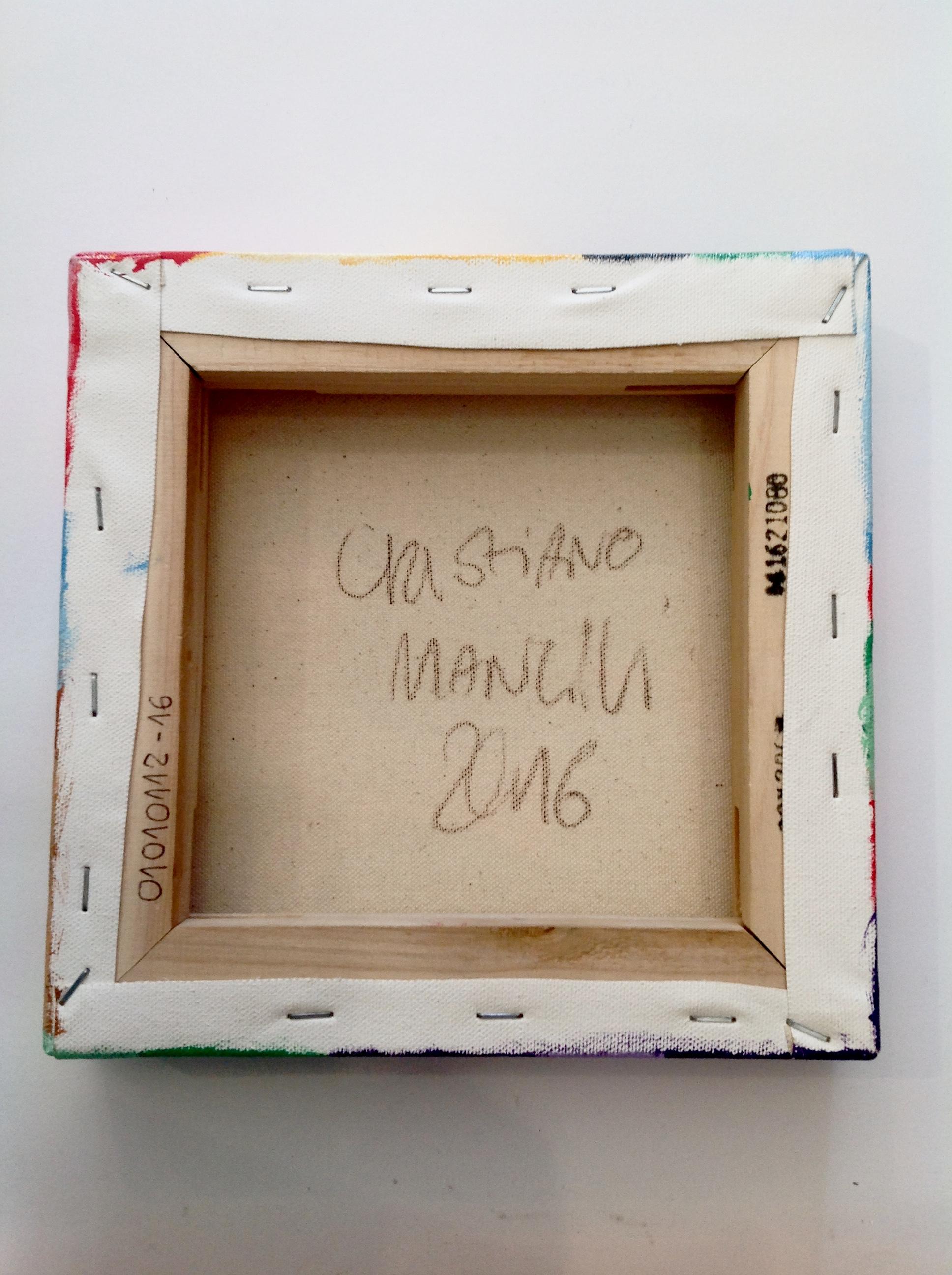 Cristiano Mancini acrilico su tela pattern #1