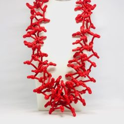 collana neoprene rossa