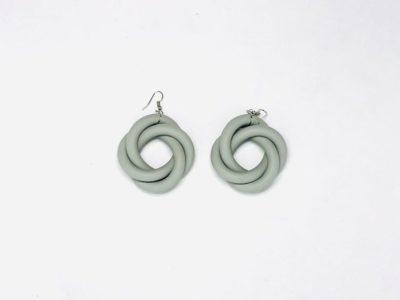 orecchini neoprene grigio